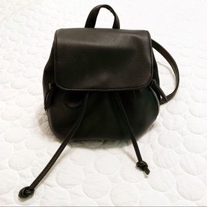 Bags - Small Faux Leather Backpack